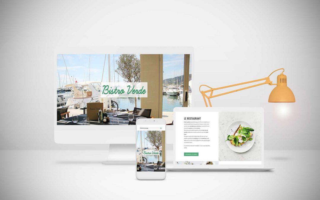 Bistro Verde – Restaurant Golfe Juan Création site internet TamVision