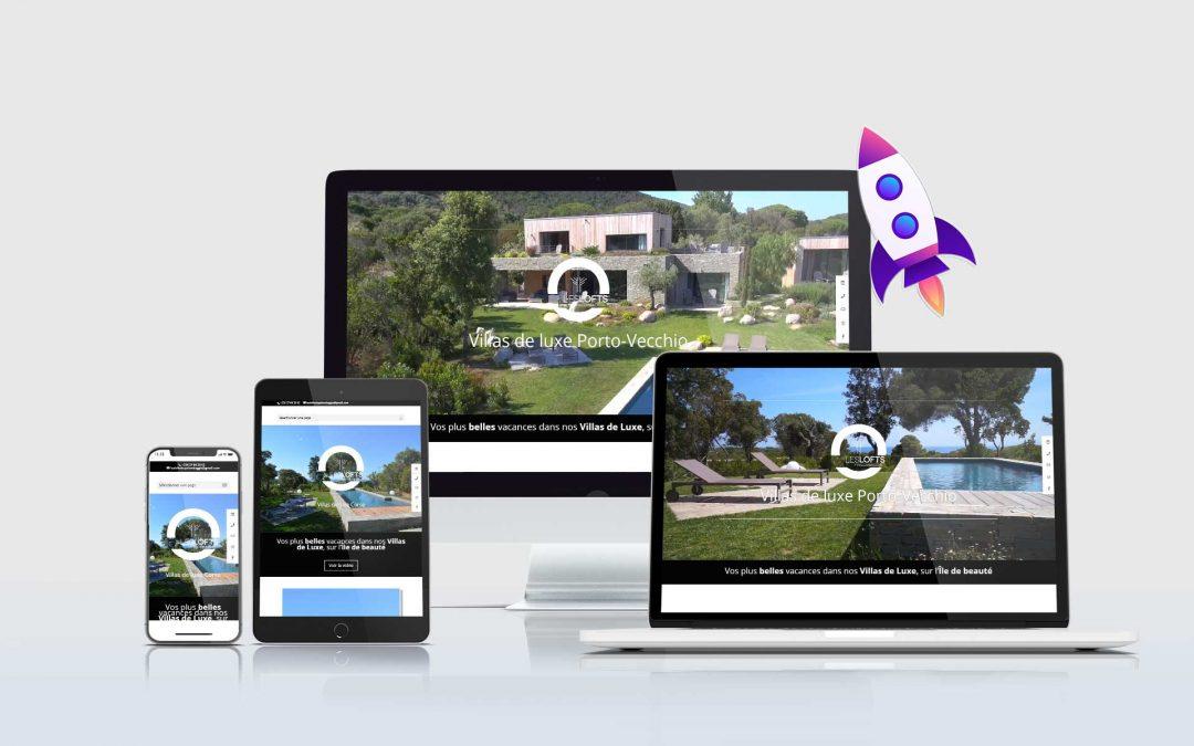 Les Lofts de Palombaggia – Location de Luxe Création de site internet TamVision