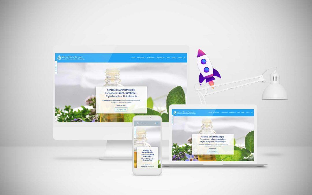Conseils en Aromathérapie Maryline Hourlier – Création site internet TamVision
