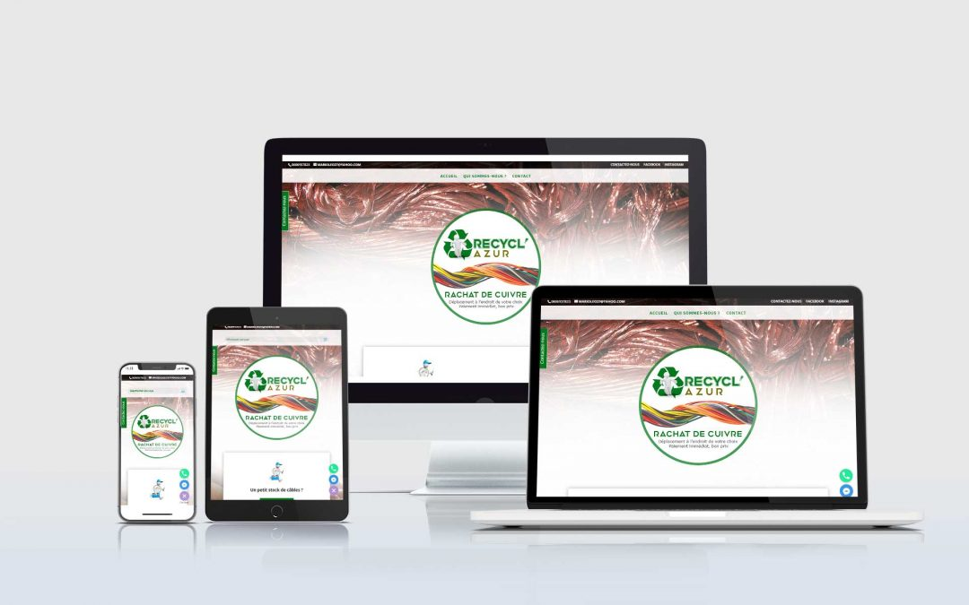 RecyclAzur – Recyclage de métaux pour l'avenir – Création site internet TamVision