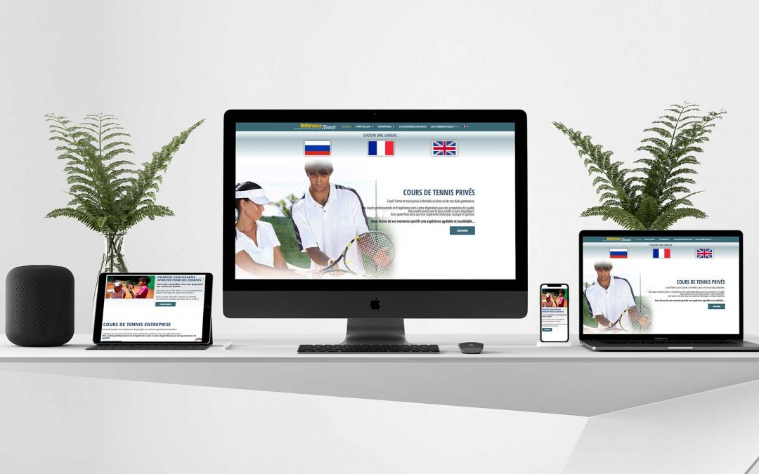 Difference Tennis – Création site internet TamVision