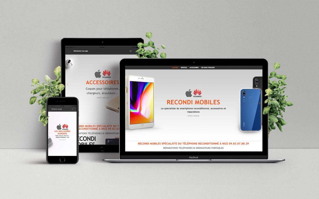 Recondi Mobile Téléphone reconditionné Nice – Création site internet TamVision