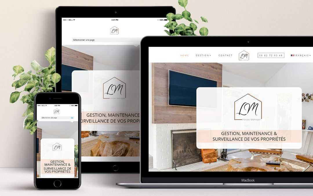 LM House Manager Grasse 06 – Gestion locative Création de site internet TamVision